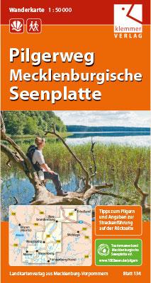 Titel Wanderkarte Pilgerweg Mecklenburgische Seenplatte